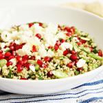 Tabouleh van quinoa met feta en granaatappel