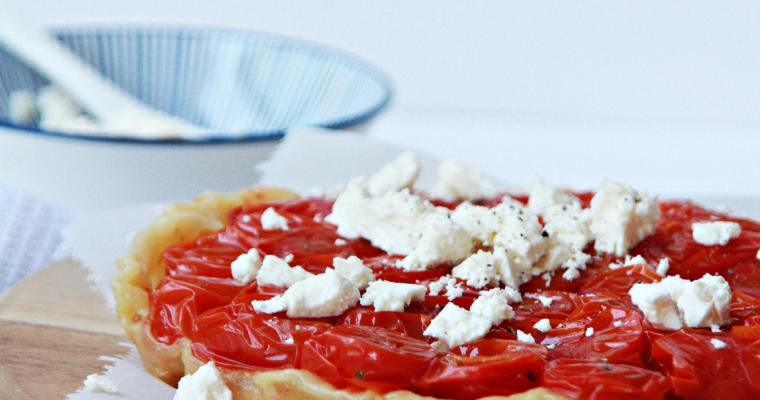 Tomaten tarte tatin met feta