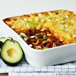 Mexicaanse ovenschotel met gehakt en aardappel