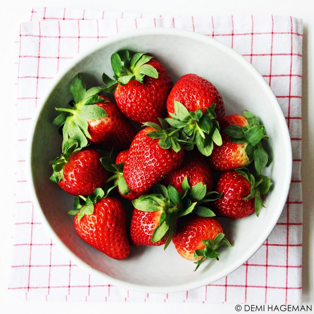 aardbeien wassen
