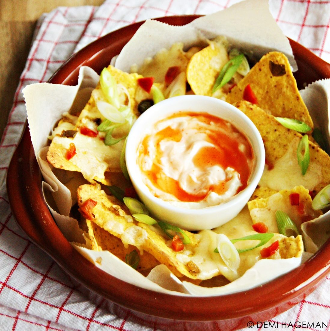 chilidip voor nacho's