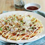 Okonomiyaki - Japanse pannenkoek met groenten en spek
