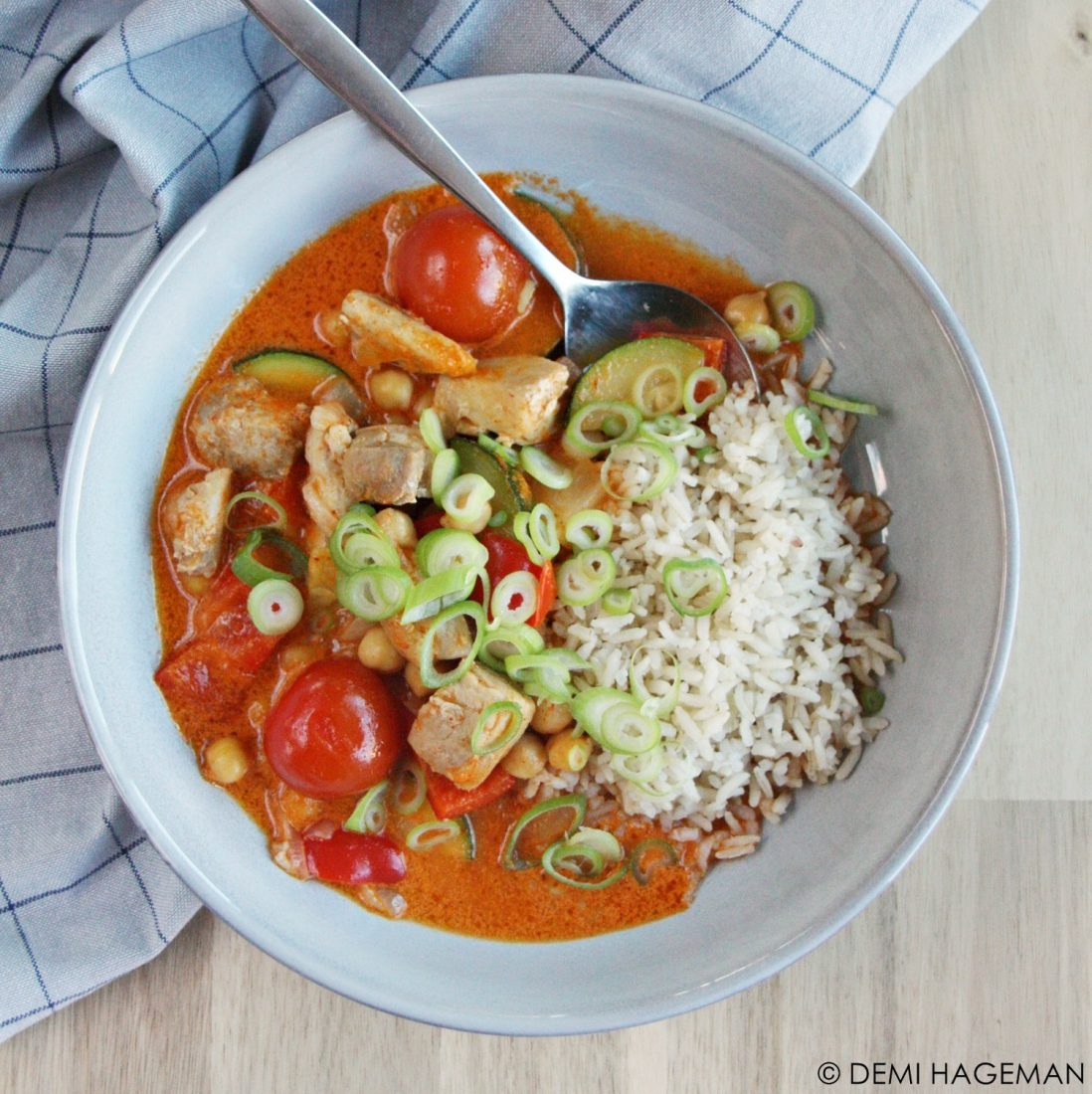 groentecurry met kip