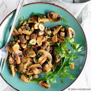 gebakken champignons