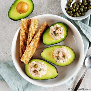 gevulde avocado met tonijnsalade