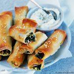 Börek met spinazie en feta - Turkse filodeegsnack
